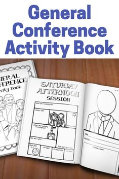 "Keep Primary children of all ages entertained and engaged during General Conference! This Activity Book PDF* has an assortment of activities for a range of age groups, including gospel-themed coloring pages, mazes, and word puzzles. It is divided into 4 sections for each session of General Conference, and includes 12 fill-in-the-name ""Speaker"" pages for each of the 12 Apostles. #lds #generalconference #affiliate"