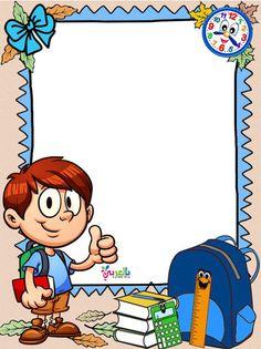 صور اشكال جميلة مفرغة للكتابة عليها للاطفال Frame Border Design, Boarder Designs, Page Borders Design, Art Drawings For Kids, Art For Kids, Crafts For Kids, Drawing For Kids, Borders For Paper, Borders And Frames