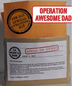 Make new daddy survival op kit. Personalize it!