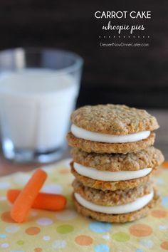 Carrot Cake Whoopie Pies on MyRecipeMagic.com #carrotcake #cookies