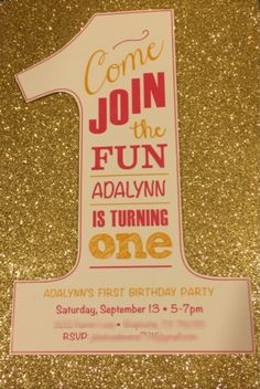 Made these birthday invitations using glitter cardstock ($1/sheet at HobLob) cut into 5x7s and chalkboard fonts on white cardstock (printed at Staples). Mounted with scrapbook adhesive 3D foam squares.