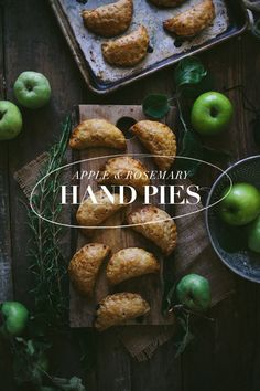 apple rosemary hand pies | designlovefest