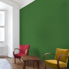 Vliestapete   Colour Dark Green   Uni Tapete Quadrat