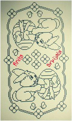 Crochet Thread Patterns, Easter Crochet Patterns, Crochet Doilies, Cross Stitch Patterns, Filet Crochet Charts, Fillet Crochet, Tissue Paper Flowers, Blackwork, Kids Rugs