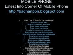 Mobile phone by Momenul Ahmad via slideshare with money earning option -http://VisitsToMoney.com/index.php?refId=490089