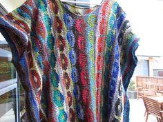 suellnz's Tunic #3, based on Espenson by Cirilia Rose and Kaffe Fassett, done in Silk Garden Sock.