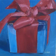 """Daily Paintworks - """"So Gifted"""" - Original Fine Art for Sale - © Libby Anderson"""