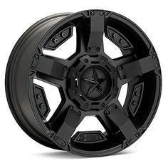 17 inch Jeep Wrangler JK 5x5 Black 17x8 Rockstar II RS2 Rims Wheels 2007 2013 | eBay