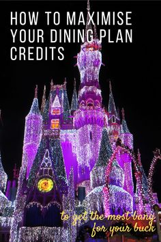 These Disney Dining Plan hacks will show you how to maximise your $$ value and make your credits stretch further! Disney Em Paris, Disneyland Paris, Disney Vacations, Disney Trips, Disney Travel, Disney World Florida, Walt Disney World, Eurotrip, Disney Parque