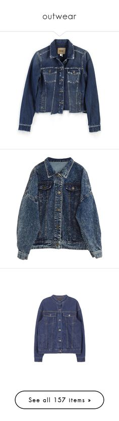 """outwear"" by arwitaa ❤ liked on Polyvore featuring outerwear, jackets, denim, coats & jackets, white, denim jacket, heavy jacket, grunge jean jacket, paige denim jacket and paige denim"