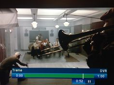 12/15/13 episode of Treme on HBO featuring a scene shot in Gennett Records Studio.