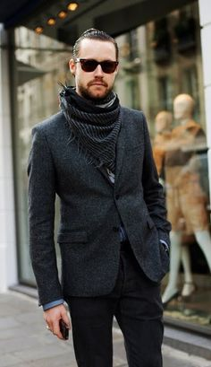 the scarf makes this outfit from something common to something cool & interesting. Its all in the details!!!... :-D