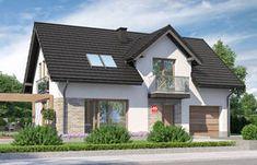 Projekt domu - Dom przy Alabastrowej 20 115.00m² - GaleriaDomow.pl Home Fashion, House Plans, Houses, Mansions, House Styles, Outdoor Decor, Home Decor, Homes, Decoration Home