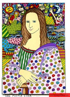 """Taking the Mona Lisa and """"revamping"""" her.  I think my older students would love this."""
