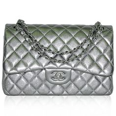 Chanel Mint Green Metallic Classic Double Flap Bag http://www.consignofthetimes.com/product_details.asp?galleryid=7195
