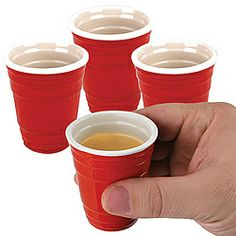 Red Cup Ceramic Shot Glasses Set $11.98 soooo GETTING THESE FOR THE HOLIDAYS:)