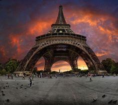 Paris France through a fish-eye lens. I want a fish-eye lens soooo bad!!!