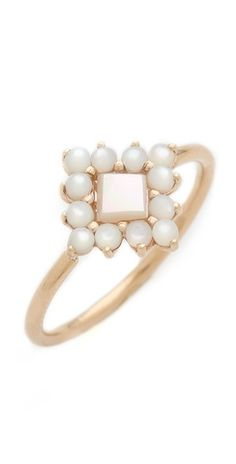 damned // ginette_ny Mother of Pearl Ring | SHOPBOP ($780)