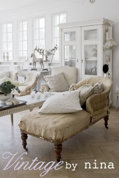 shabby vintage living room