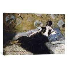 iCanvas The Lady with Fans (Nina de Callias) Gallery Wrapped Canvas Art Print by Edouard Manet