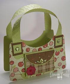 Paper purse, CTMH paper.