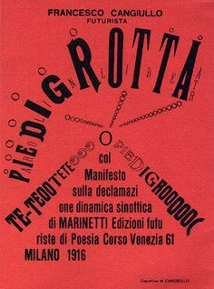 Francesco Cangiullo - Piedigrotta, 1916 by laura@popdesign, via Flickr