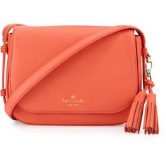 kate spade new york orchard street penelope crossbody bag ($348) ❤ liked on Polyvore featuring bags, handbags, shoulder bags, bright papaya, red purse, handbags shoulder bags, handbags crossbody, red shoulder handbags and kate spade handbag