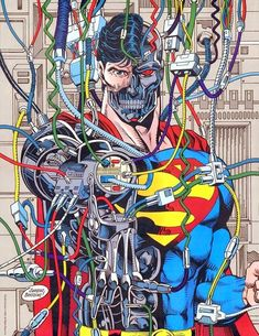 Cyborg Superman as in Man of Tomorrow - plotted the demise of Coastal City leading to Hal Jordan's insanity as Parallax. Thank you Cyborg Superman and all your chaos with Doomsday and the Sinestro Corp as well. Comic Book Artists, Comic Book Characters, Comic Book Heroes, Comic Artist, Comic Character, Comic Books Art, Artwork Superman, Comic Superman, Superman Doomsday
