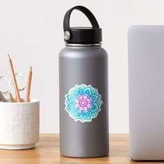 """""""Pastel Vibes Mandala"""" Sticker by julieerindesign 