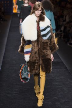 Karl Lagerfeld's taking Fendi back to the future for fall 2016. See the new collection here