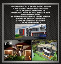 Open Studio Designs: 3 D presentations Render Image, Building A New Home, 3 D, Presentation, New Homes, African, Construction, Studio, Architecture
