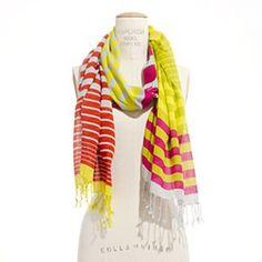 Pondstripe Scarf + white = summer! $34.99 at Madewell