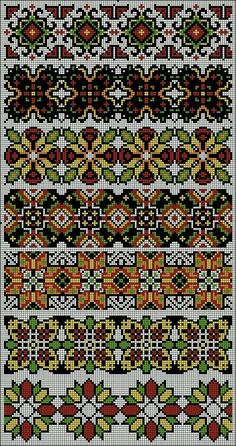 This Pin was discovered by Lyu Cross Stitch Geometric, Beaded Cross Stitch, Cross Stitch Borders, Cross Stitch Charts, Cross Stitch Designs, Cross Stitching, Cross Stitch Patterns, Bargello Patterns, Peyote Patterns
