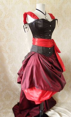 Alternative Alice Corset-Alice In Wonderland/Queen of Hearts Corset Oufit-Whole Outfit-MADE FOR BUYER. $429.00, via Etsy.