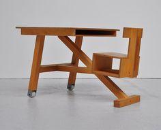 Dutch plywood school desk