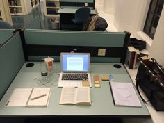 Studying in a cubicle