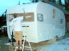 Great site with lots of photos -Vintage Travel Trailer Redo's