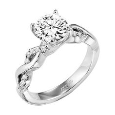 "Artcaved 0.16 Carat 14K White Gold ""Gabriella"" Diamond Twist Engageme · 31-V319GRW · Ben Garelick Jewelers"