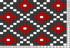Tricksy Knitter Charts: pattern idea 3 (71919) Tapestry Crochet Patterns, Bead Loom Patterns, Weaving Patterns, Pixel Crochet, Crochet Chart, Knitting Charts, Knitting Patterns, Cross Stitch Patterns Free Easy, Bordado Popular