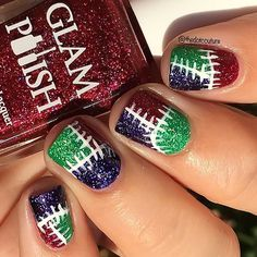 A Sally-inspired mani (think Nightmare Before Christmas) using Ms Eva Ernst, Nancy Downs, and Zelena from the Coven collection by @glampolish_ available now at www.glampolish.com.au/products ❤️ #prsample #glampolish