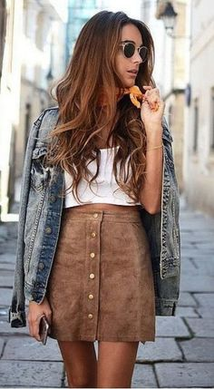 Khaki Plain Buttons Fashion Skirt