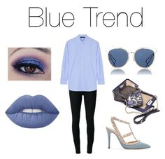 """""""Blue Trend!💙"""" by jazzrodgers ❤ liked on Polyvore featuring BLK DNM, Cédric Charlier, Valentino, Christian Dior, Mohzy and Lime Crime"""