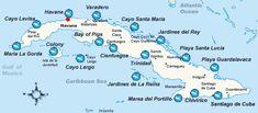 Dive map of Cuba