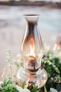 an oil lamp or lantern would be a cool vintage touch...
