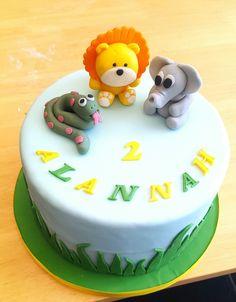 Ghibli no face spirited away birthday cake ki cakes pinterest jungle animals birthday cake 2nd birthday fondant animals lion elephant and snake publicscrutiny Choice Image