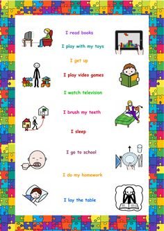 Learning English For Kids, English Worksheets For Kids, English Lessons For Kids, Teaching English, Learn English, Speech Language Therapy, Speech Therapy Activities, Speech And Language, Reading For Beginners
