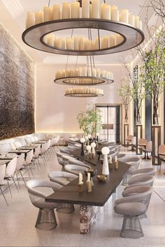 Coffee Shop Interior Design, Luxury Interior Design, Interior Design Inspiration, Interior Architecture, Interior Design Photography, Landscape Architecture, Modern Restaurant Design, Luxury Restaurant, Luxury Cafe