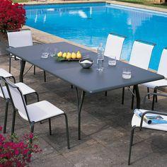 Atlantis Rectangular Extending Table Garden Furniture by Unopiu A Table, Dining Table, Outdoor Garden Furniture, Patio Design, Atlantis, Outdoor Dining, Terrace, Brunch, Home Decor