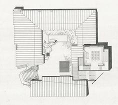 Roof Plan : Säynätsalo Town Hall, Finland (1952) | Alvar Aalto