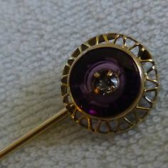 Vintage Yellow 14k Gold Ladies Hat Stick Pin | eBay